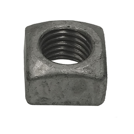 ¾ Inch Square Galvanized Nut