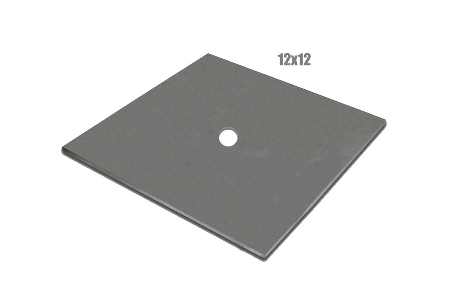 12 x 12 Inch Steel Wall Plate 1 In Center Hole