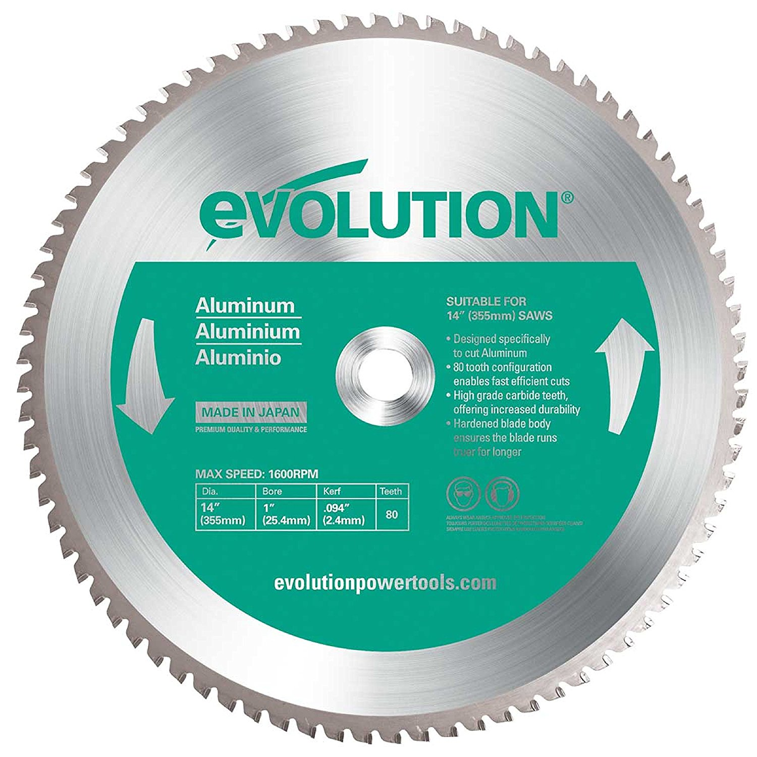14-Inch X 80-Tooth Aluminum Cutting Saw Blade