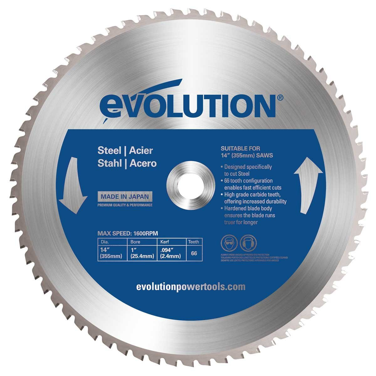 14-Inch X 66-Tooth Steel Cutting Saw Blade