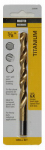 Hs Steel Titanium Coated Drill Bit 3/8X5 In.
