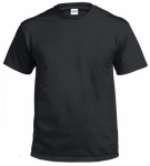 Adult Xxl Black Short Sleeve Non-Pocket Tee Shirt