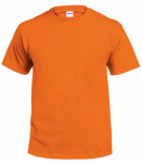 Adult Xxl Safety Orange Short Sleeve Tee Shirt
