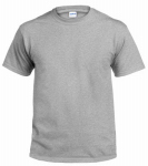 Adult Xxl Safety Grey Short Sleeve Tee Shirt