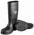 Black Pvc Over The Sock Boot Size 10