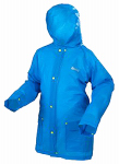 S-M Blue Youth Rain Jacket .15 Mm Eva Full Hood