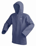 L-Xl Navy Rain Jacket .15 Mm Eva Full Cover Hood