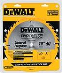 40T Thin Kerf Table Saw Blade 10 In.