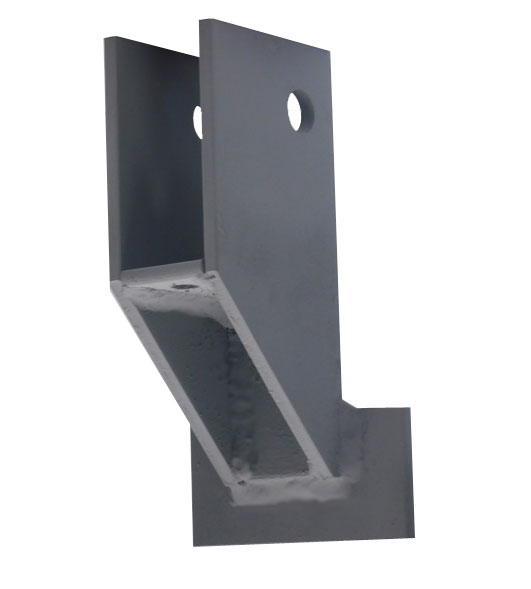 Stationary Perpendicular Bowed Wall Bracket – Galvanized