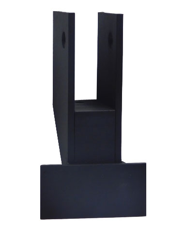 Stationary Perpendicular Bowed Wall Bracket – Painted