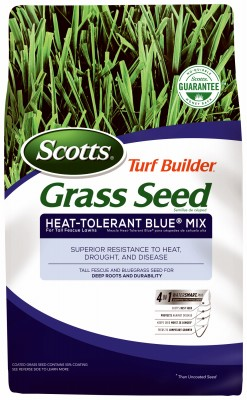 107642,18308,Grass Seed,Scotts,Turf Builder Heat Tolerant Blue Seed Mix 20 Lb.,Turf,Builder,Heat,Tolerant,Blue,Seed,Mix,20,Lb.