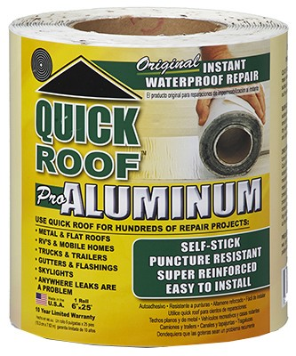 114119,QR625,Foundation and Roof Seal Tape,Quick Roof,Roof Repair 6 x 25 ft.,Roof,Repair,6,x,25,ft.