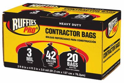 106286,1190270,Liner,Ruffies Pro,Contractor Bag 20 Pack,Contractor,Bag,20,Pack