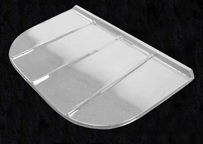 111205-MF,89099,Wells Ladders and Grates,Monarch,55 in x 36 in Clear Poly Grate Cover,55,in,x,36,in,Clear,Poly,Grate,Cover