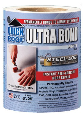 167051,UBW625,Foundation and Roof Seal Tape,Quick Roof,White Ultra Bond 6 x 25 ft.,White,Ultra,Bond,6,x,25,ft.