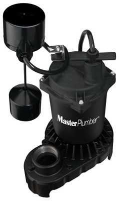 176950,176950,Primary Sump Pump,Master Plumber,1/3 HP Cast Iron and Zinc Sump Pump,1/3,HP,Cast,Iron,and,Zinc,Sump,Pump