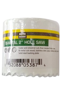 868224,868224,Metal Cut Hole Saw,Master Mechanic,Bi-Metal Hole Saw 2 in.,Bi-Metal,Hole,Saw,2,in.
