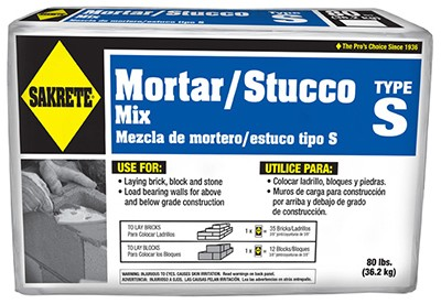 798852,65302880,Grout Mortar and Concrete,Sakrete,80 lbs. High Strength Mortar Mix,80,lbs.,High,Strength,Mortar,Mix