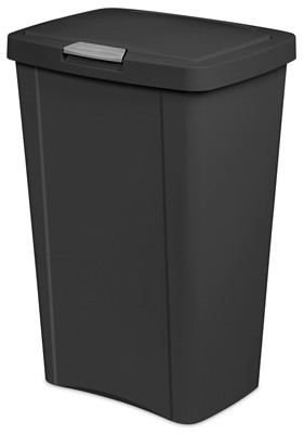 204232,10459004,Wastebaskets Kitchen,Sterilite,13 Gallon 49L Black Touch Can,13,Gallon,49L,Black,Touch,Can