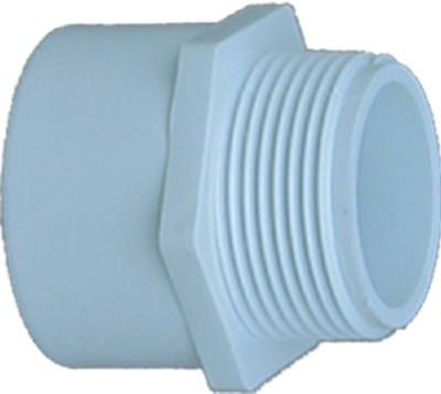 197954,30415,Pipe and Fittings,Genova,1-1/2 White Male Adapter,1-1/2,White,Male,Adapter