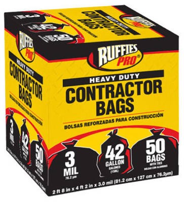 269156,1190274,Liner,Ruffies Pro,Contractor Bag 50 Pack,Contractor,Bag,50,Pack