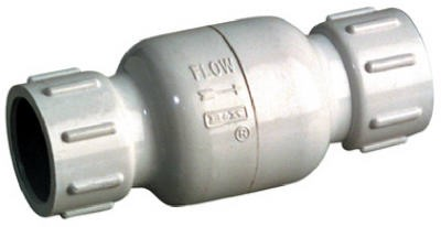 425751,101-603,Well Supply Accessories,Mueller,1/2 White PVC Check Valve,1/2,White,PVC,Check,Valve