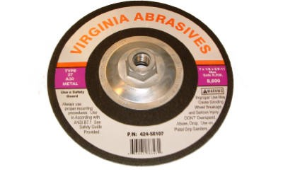 681496,424-58107,Abrasive Blade,Virginia Abrasives,7x1/8x5/8-11in. Metal Grinding Wheel,7x1/8x5/8-11in.,Metal,Grinding,Wheel
